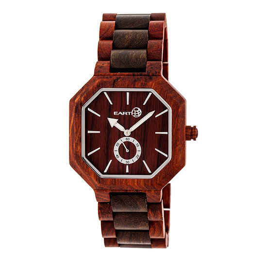 Earth Wood Acadia Unisex Adult Automatic Red Bracelet Watch-Ethew4705