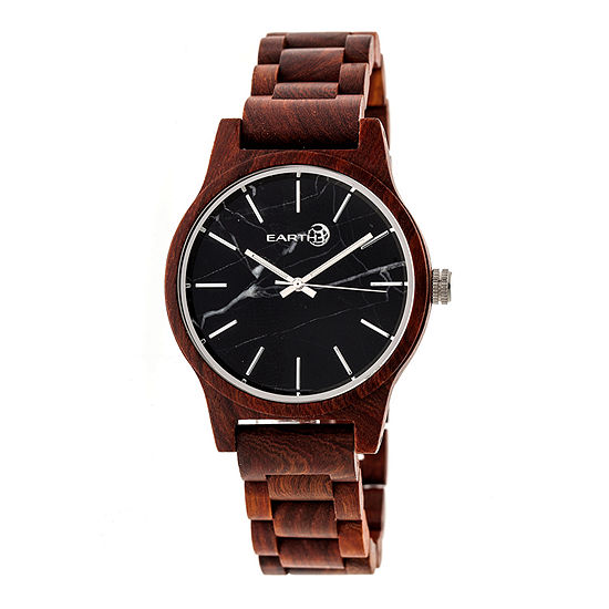Earth Wood Tuckahoe Unisex Red Automatic Bracelet Watch-Ethew4803