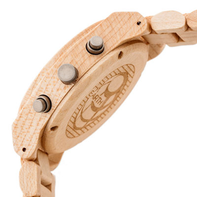 Earth Wood Castillo Unisex Brown Bracelet Watch-Ethew5101