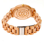 Earth Wood Pike Unisex Adult Automatic Brown Bracelet Watch-Ethew5201