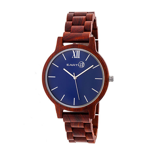 Earth Wood Pike Unisex Adult Automatic Red Bracelet Watch-Ethew5203