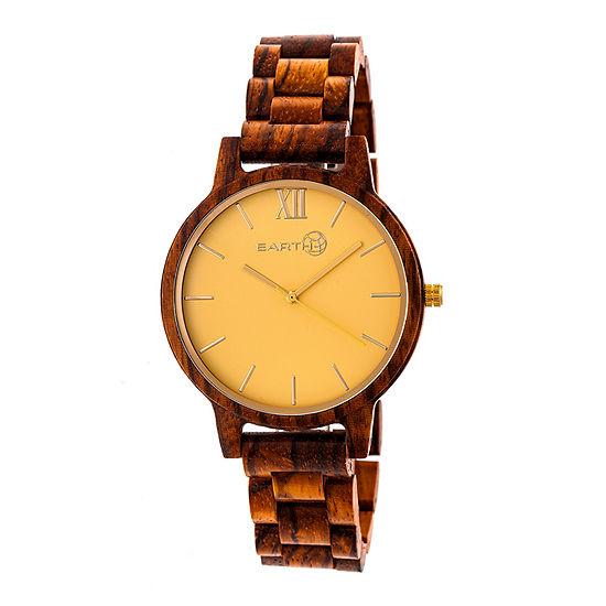 Earth Wood Pike Unisex Adult Automatic Green Bracelet Watch-Ethew5204