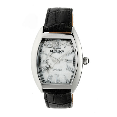 Heritor Baron Mens Black Strap Watch-Herhr6001