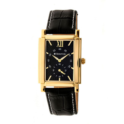 Heritor Frederick Mens Black Strap Watch-Herhr6103