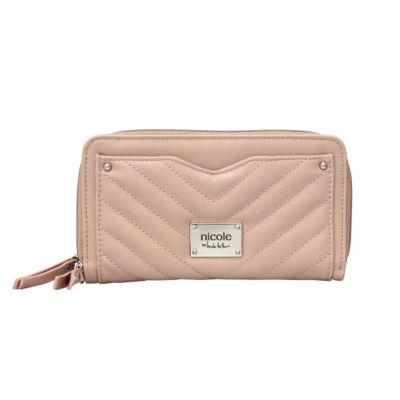 Nicole By Nicole Miller Lola Double Zip Around Wallet