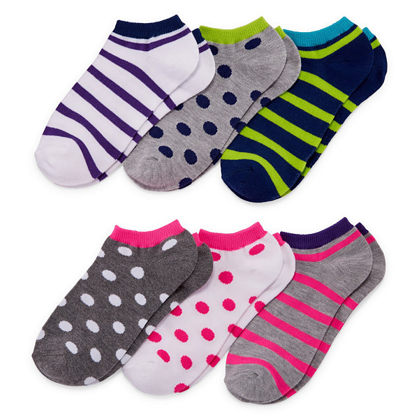 Mixit 6 Pair No Show Socks - Womens