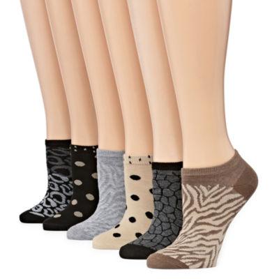 Mixit 6-pc. No Show Socks - Womens