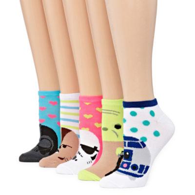 Mixit 5 Pair Star Wars No Show Socks - Womens