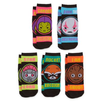 Mixit 5 Pr Guardians of the Galaxy No Show Socks - Womens