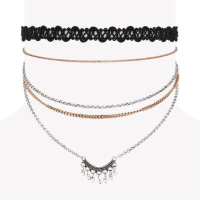 Decree Womens Round Choker Necklace