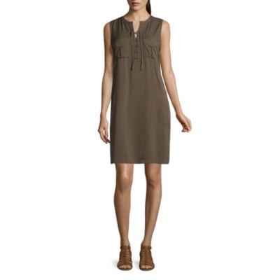 a.n.a Sleeveless Shirt Dress