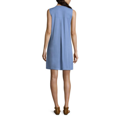 a.n.a Sleeveless Shirt Dress