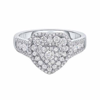 Womens 1 1/2 CT. T.W. Genuine White Diamond 14K Gold Band