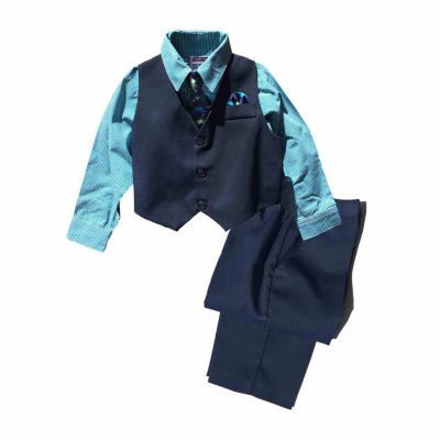 Hudson Ferrell 4-pc. Pant Set Baby Boys