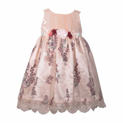 Bonnie Jean Sleeveless Embroider Skirt Dress - Baby Girls