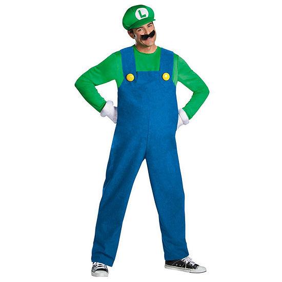 Super Mario Brothers Luigi Adult Plus Size Costume Plus 50 52