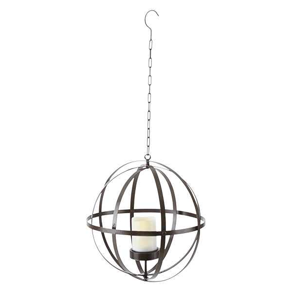 Outdoor Oasis Solar Round Outdoor Hanging Candle