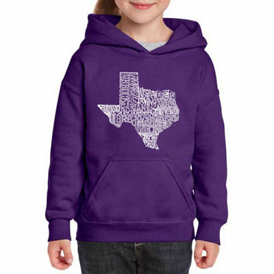 Los Angeles Pop Art The Great State Of Texas Long Sleeve Sweatshirt Girls