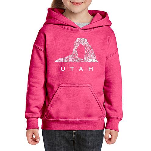 Los Angeles Pop Art Utah Long Sleeve Sweatshirt Girls