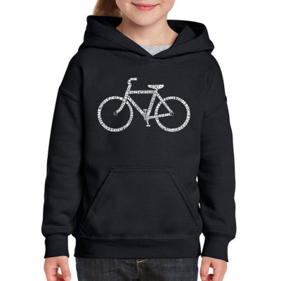 Los Angeles Pop Art Save A Planet; Ride A Bike Long Sleeve Sweatshirt Girls