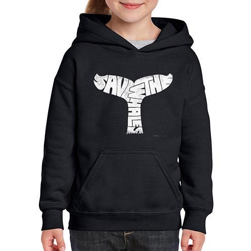 Los Angeles Pop Art Save The Whales Long Sleeve Sweatshirt Girls