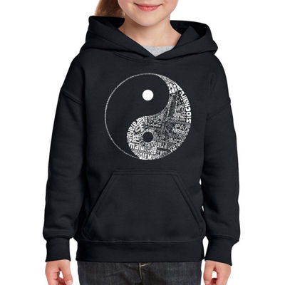 Los Angeles Pop Art Yin Yang Long Sleeve Sweatshirt Girls