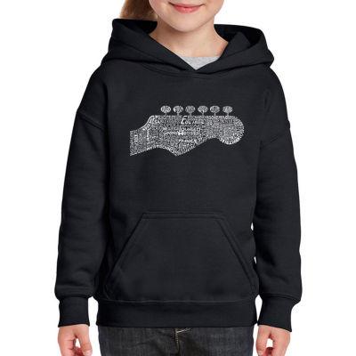 Los Angeles Pop Art Guitar Head Long Sleeve Sweatshirt Girls