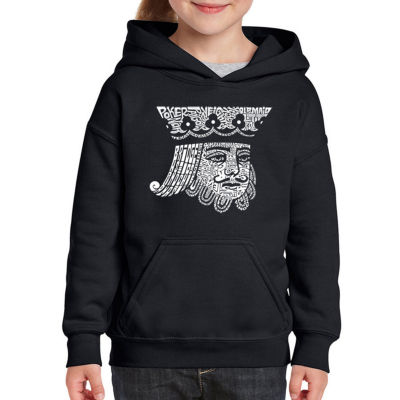 Los Angeles Pop Art King Of Spades Long Sleeve Sweatshirt Girls