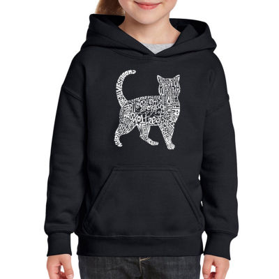 Los Angeles Pop Art Cat Long Sleeve Sweatshirt Girls