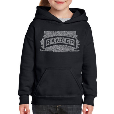 Los Angeles Pop Art The Us Ranger Creed Long Sleeve Girls Word Art Hoodie
