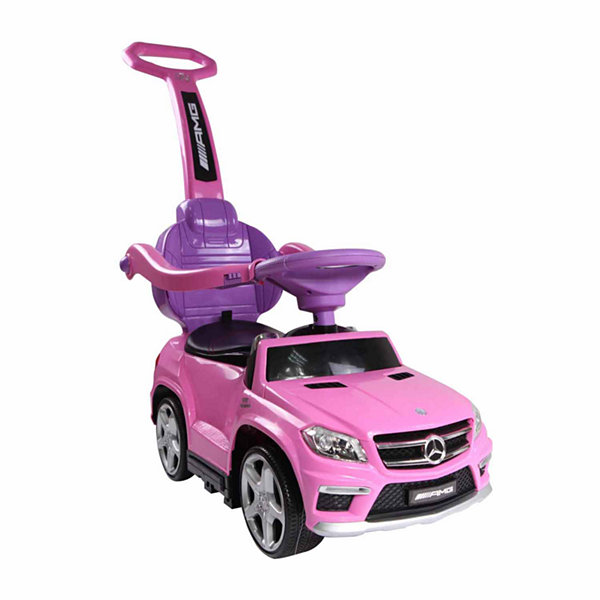 4‑in‑1 Mercedes Stroller Ride‑On Toy Push Car ‑ Pink