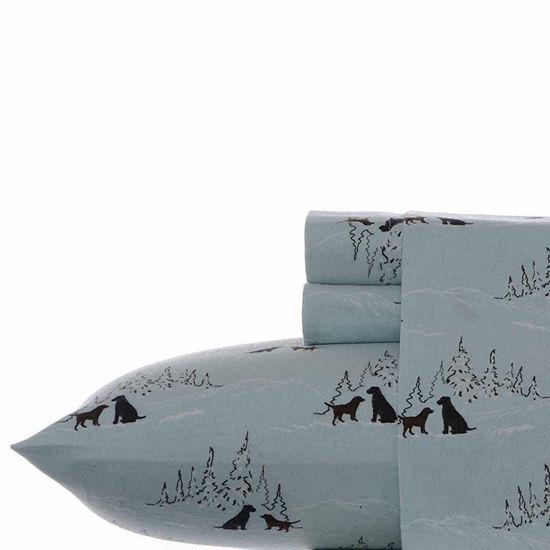 Eddie Bauer® Dog Friends Easy Care Flannel Sheet Set