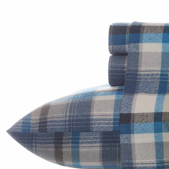 Eddie Bauer® Spencer Plaid Easy Care Flannel Sheet Set