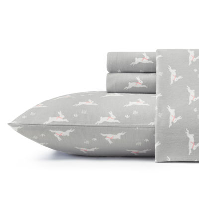 Laura Ashley Bunny Hop Flannel Sheet Set