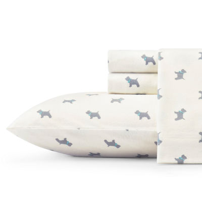 Laura Ashley Scottie Flannel Sheet Set