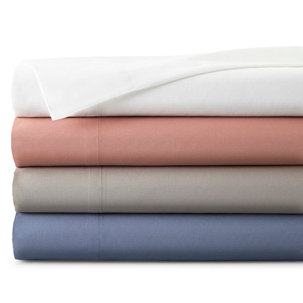 JCPenney Home™ 300tc 100% Cotton Ultra Soft Solid Set of 2 Pillowcases