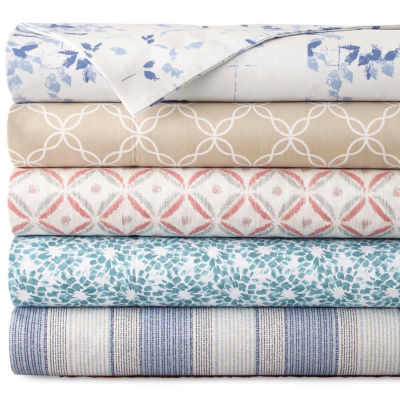 JCPenney Home™ 300tc 100% Cotton Ultra Soft Print Set of 2 Pillowcases