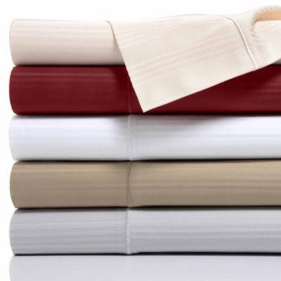 Kathy Ireland 400 Thread Count 100% Cotton 4 Line Stripe Sheet Set