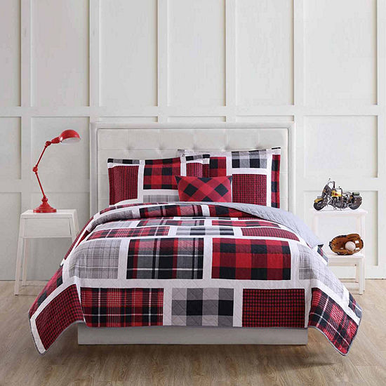 My World Buffalo Plaid Quilt Set Plaid Hypoallergenic Quilt Set