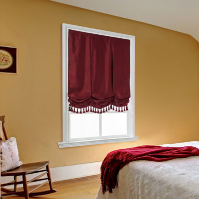 JCPenney Home Plaza Balloon Custom Cordless Roman Shade