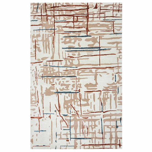 Rizzy Home Gillespie Avenue Collection Hand-TuftedMadelyn Abstract Area Rug