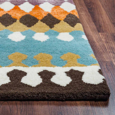 Rizzy Home Gillespie Avenue Collection Hand-Tufted Noah Chevron Area Rug