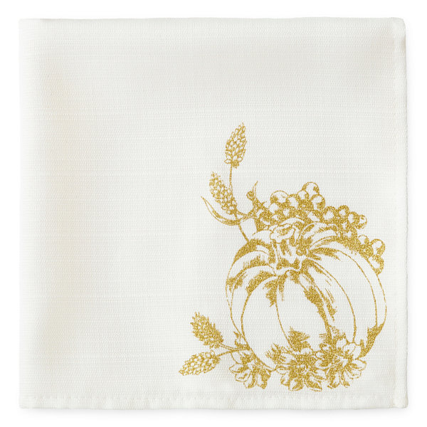 Harvest Gold Pumpkin 4pc Napkin