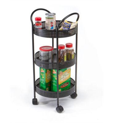 Mind Reader 3 Tier Round Kitchen Trolley