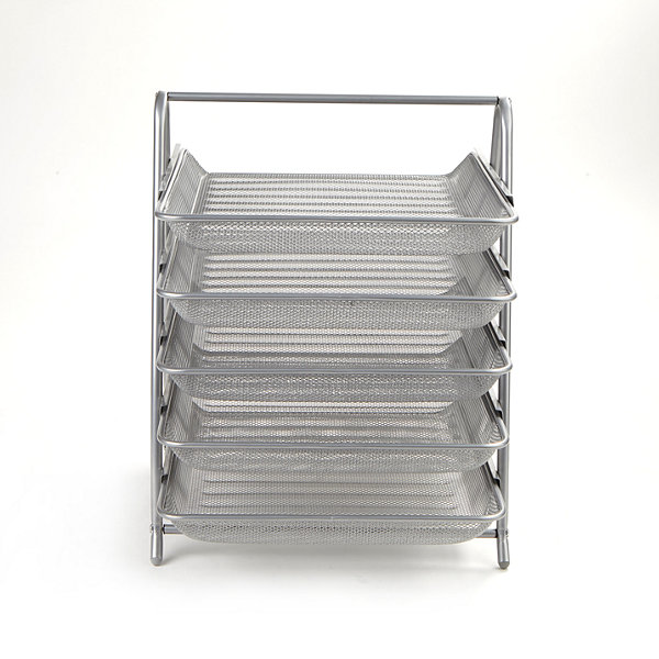Mind Reader 5-Tier Steel Mesh Paper Tray Desk Organizer