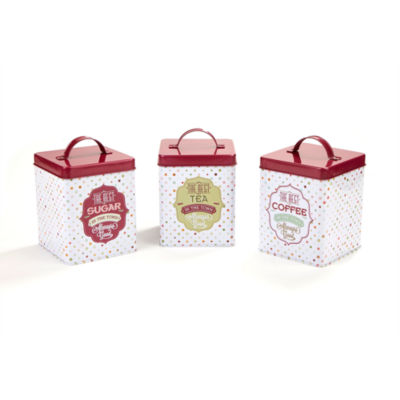 Mind Reader Tin 3-Piece Canister Set