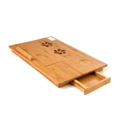 Mind Reader Bamboo Laptop Bed Tray With Cooling Factor