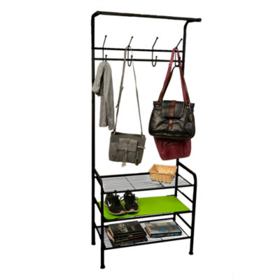 Mind Reader Metal Coat & Shoe Rack