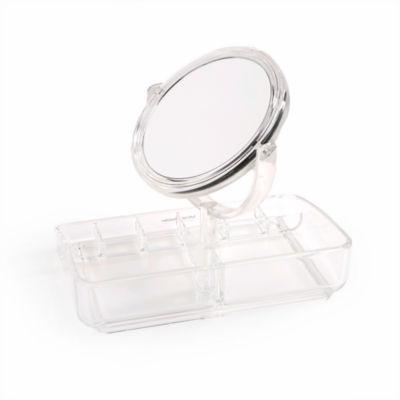 Mind Reader Acrylic Jewelry Organizer With Mirror JEWELMIRCLR