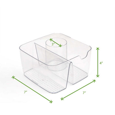 Mind Reader Acrylic 5-Compartment Cosmetic Organizer